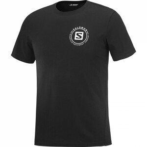 Pánské triko Salomon Outrack Blend Velikost: L / Barva: černá