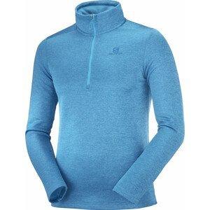 Pánská mikina Salomon Essential Lightwarm Seamless Velikost: XL / Barva: modrá