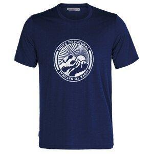 Pánské triko Icebreaker T-Lite II SS Tee Move to Natural Velikost: M / Barva: modrá