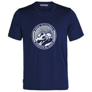 Pánské triko Icebreaker T-Lite II SS Tee Move to Natural Velikost: L / Barva: modrá