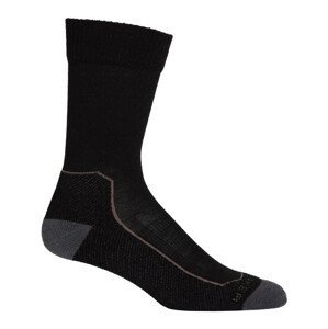 Pánské ponožky Icebreaker Hike+ Light Crew Velikost ponožek: 42-44 / Barva: černá