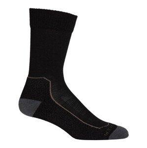 Pánské ponožky Icebreaker Hike+ Light Crew Velikost ponožek: 44,5 - 46,5 / Barva: černá