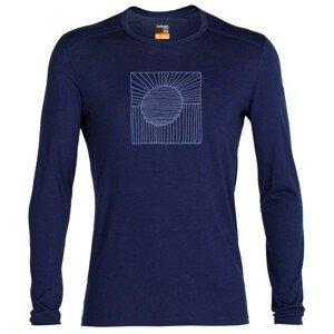 Pánské triko Icebreaker 200 Oasis Ls Crewe Solar Velikost: M / Barva: tmavě modrá