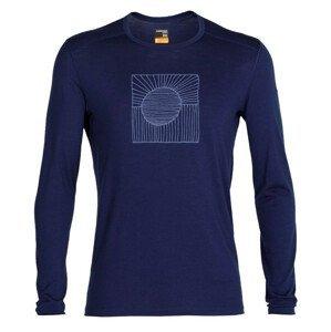 Pánské triko Icebreaker 200 Oasis Ls Crewe Solar Velikost: L / Barva: tmavě modrá