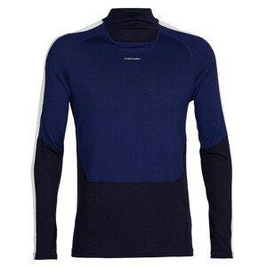 Pánské funkční triko Icebreaker M 200 Sonebula Ls High Neck Velikost: M / Barva: tmavě modrá