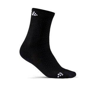 Dětské ponožky Craft Warm Mid 2-pack Junior Velikost: 28-30 / Barva: černá