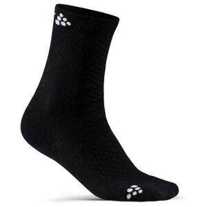 Dětské ponožky Craft Warm Mid 2-pack Junior Velikost: 31-33 / Barva: černá
