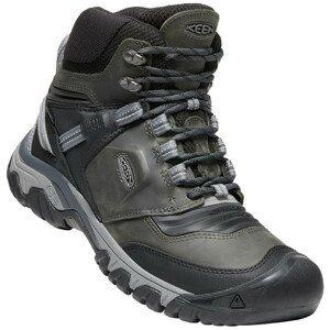 Pánské boty Keen Ridge Flex Mid Wp Velikost bot (EU): 43 / Barva: šedá/černá