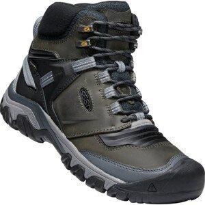 Pánské boty Keen Ridge Flex Mid Wp Velikost bot (EU): 45 / Barva: šedá/černá
