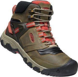 Pánské boty Keen Ridge Flex Mid Wp Velikost bot (EU): 46 / Barva: tmavě zelená