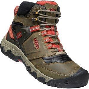 Pánské boty Keen Ridge Flex Mid Wp Velikost bot (EU): 44,5 / Barva: tmavě zelená