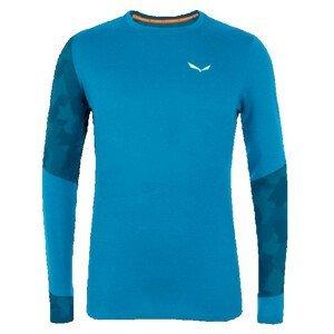 Pánské triko Salewa Cristallo Warm Amr M L/S Tee. Velikost: M / Barva: modrá