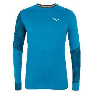 Pánské triko Salewa Cristallo Warm Amr M L/S Tee. Velikost: L / Barva: modrá