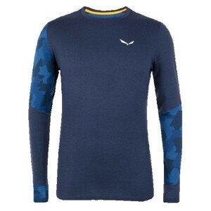 Pánské triko Salewa Cristallo Warm Amr M L/S Tee. Velikost: M / Barva: tmavě modrá