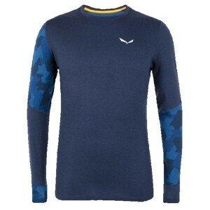 Pánské triko Salewa Cristallo Warm Amr M L/S Tee. Velikost: XXL / Barva: tmavě modrá