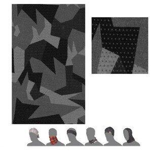 Šátek Sensor Tube Merino Impress Barva: černá/šedá