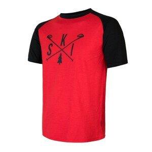 Pánské triko Sensor Merino Active Pt Ski Velikost: XL / Barva: černá/červená