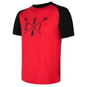 Pánské triko Sensor Merino Active Pt Ski Velikost: XXL / Barva: černá/červená