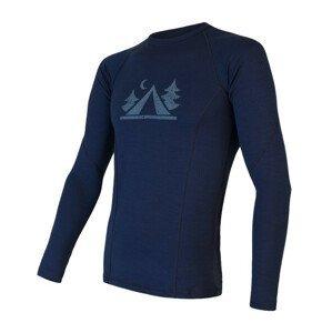 Pánské triko Sensor Merino Df Camp Velikost: XXL / Barva: tmavě modrá