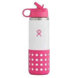 Dětská lahev Hydro Flask Kids Wide Mouth 20 oz Straw Lid/Boot Barva: růžová