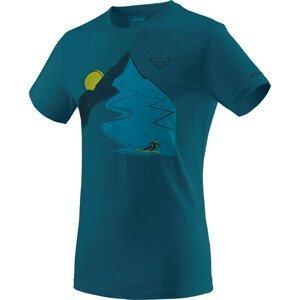 Pánské triko Dynafit Artist Series Co T-Shirt M Velikost: XL / Barva: modrá