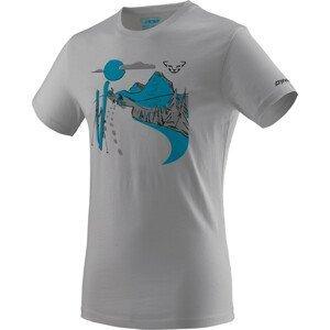 Pánské triko Dynafit Artist Series Co T-Shirt M Velikost: XXL / Barva: světle šedá