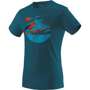 Pánské triko Dynafit Artist Series Co T-Shirt M Velikost: L / Barva: modrá/oranžová