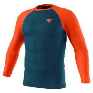 Pánské funkční triko Dynafit Tour Light Merino M L/S Tee Velikost: L / Barva: modrá/oranžová