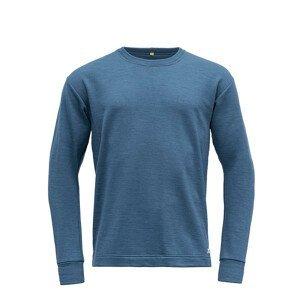 Pánská funkční mikina Devold Nibba Man Sweater Velikost: XL / Barva: modrá