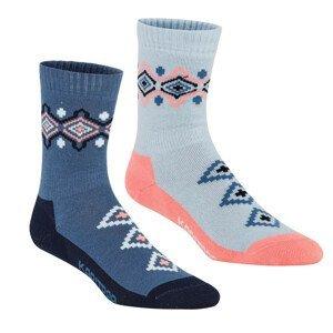 Ponožky Kari Traa Inka Sock 2PK Velikost ponožek: 39-41 / Barva: modrá
