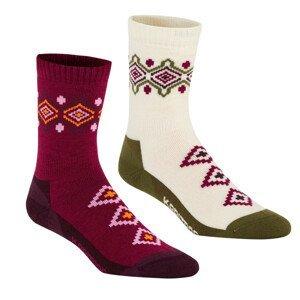 Ponožky Kari Traa Inka Sock 2PK Velikost ponožek: 39-41 / Barva: bílá
