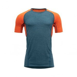 Pánské funkční triko Devold Running Man T-Shirt Velikost: M / Barva: modrá/oranžová