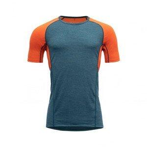 Pánské funkční triko Devold Running Man T-Shirt Velikost: XXL / Barva: modrá/oranžová