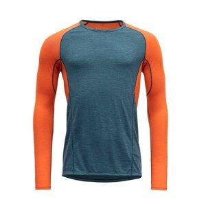 Pánské funkční triko Devold Running Man Shirt Velikost: M / Barva: modrá/oranžová