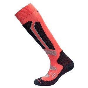 Ponožky Devold Alpine Woman Sock Velikost ponožek: 35-37 / Barva: oranžová/černá