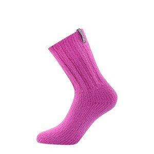 Ponožky Devold Nansen Woman Sock Velikost ponožek: 36-40 / Barva: růžová