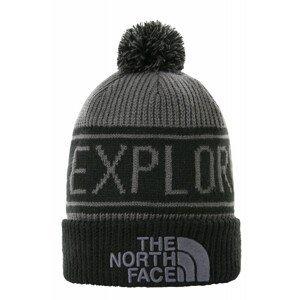 Čepice The North Face Retro Tnf Pom Beanie Barva: černá/šedá