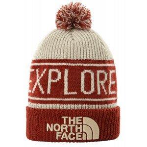 Čepice The North Face Retro Tnf Pom Beanie Barva: bílá/červená