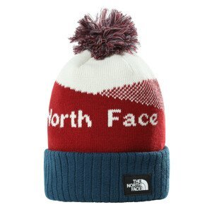 Čepice The North Face Recycled Pom Pom Barva: červená/modrá