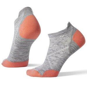 Dámské ponožky Smartwool W Performance Run Zero Cushion Low Ankle Velikost ponožek: 38-41 / Barva: šedá/oranžová