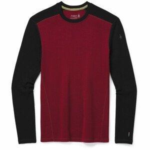 Pánské funkční triko Smartwool Merino 250 Baselayer Crew Boxed Velikost: M / Barva: červená/černá