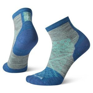 Cyklistické ponožky Smartwool Performance Cycle Zero Cushion Ankle Velikost ponožek: 34-37 / Barva: šedá/modrá