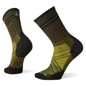 Cyklistické ponožky Smartwool Performance Cycle Zero Cushion Pattern Crew Velikost ponožek: 38-41 / Barva: zelená/hnědá