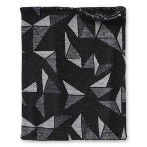 Multifunkční šátek Smartwool Merino 250 Reversible Pttrn Neck Gaiter Barva: černá/šedá