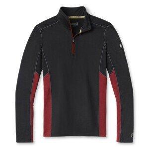 Pánská funkční mikina Smartwool M Merino Sport 150 Long Sleeve 1/4 Zip Velikost: L / Barva: černá/červená