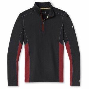 Pánská funkční mikina Smartwool M Merino Sport 150 Long Sleeve 1/4 Zip Velikost: XL / Barva: černá/červená