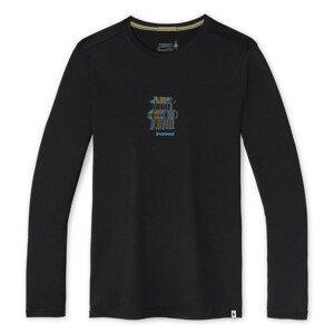 Pánské funkční triko Smartwool M Merino Sport 150 Smw Logo Ls Grphc Tee Velikost: XL / Barva: černá