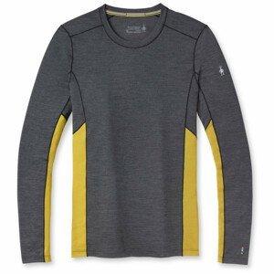 Pánské funčkní triko Smartwool Merino Sport 150 Long Sleeve Crew Velikost: M / Barva: šedá/žlutá