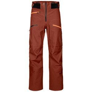 Pánské kalhoty Ortovox 3L Deep Shell Pants Velikost: S / Barva: červená