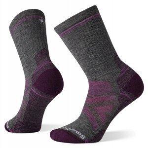 Dámské ponožky Smartwool W Performance Hike Full Cushion Crew Velikost ponožek: 38-41 / Barva: šedá/růžová